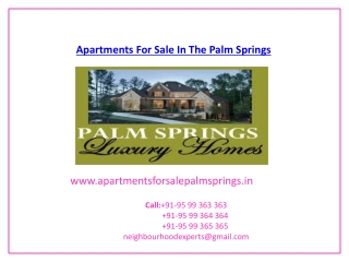 Apartments For Sale In The Palm Springs