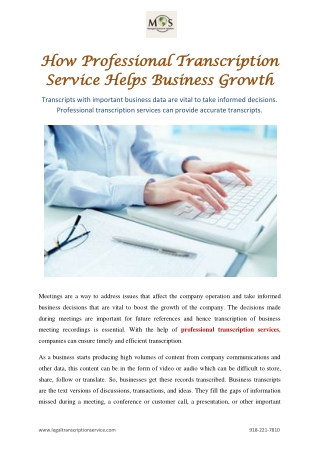 How Professional Transcription Service Helps Business Growth