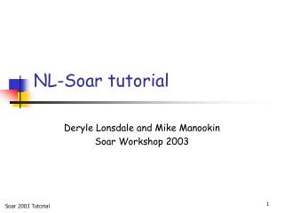 NL-Soar tutorial