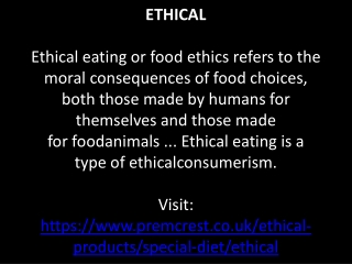 Ethical Drinks | Ethical Products | Ethical Food Companies | Ethical Food Brands | Best Ethical Brands | Ethical Food Pr