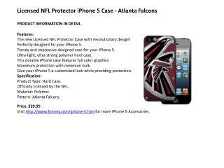 Licensed NFL Protector iPhone 5 Case - Atlanta Falcons