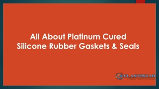 Platinum Cured Silicone Rubber Gaskets & Seals