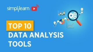 Top 10 Data Analysis Tools   Top Data Analytics tools   Data Analytics   Simplilearn