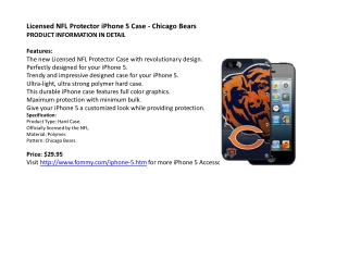 Licensed NFL Protector iPhone 5 Case - Chicago Bears