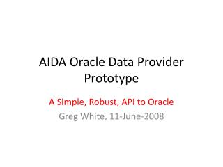 AIDA Oracle Data Provider Prototype
