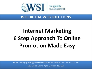 Internet Marketing - 6 Step Approach To Online Promotion Mad