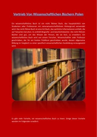 Vertrieb Von Wissenschaftlichen Büchern Polen