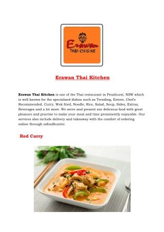 5% Off - Erawan Thai Kitchen - Thai restaurant penshurst, NSW