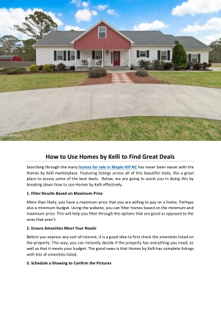 How to Use Homes by Kelli to Find Great Deals