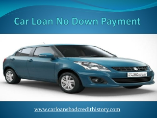 Car loan without down payment
