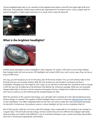 LED vs Xenon HID Headlights