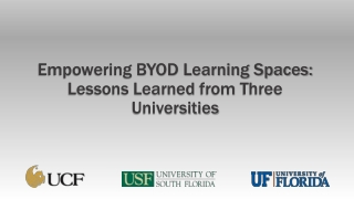 Empowering BYOD Learning Spaces: Lessons Learned from Three Universities