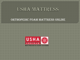 Orthopeadic Foam Mattress Online – Usha Shriram