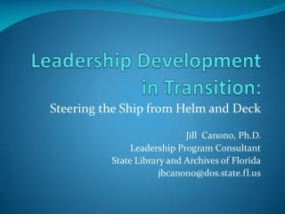 Leadership Development in Transition:
