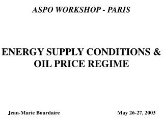 ASPO WORKSHOP - PARIS