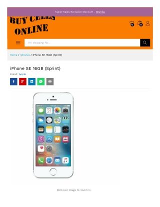 Order iPhone SE 16GB (Sprint) – Buycellsonline