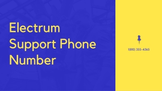 Electrum Support Phone Number【1(810) 355-4365©】