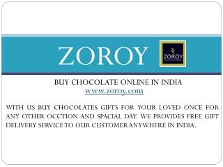 Buy Chocolates Online at Zoroy