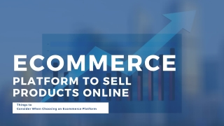 Ecommerce Platform to Sell Products Online