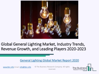 Global General Lighting Market Report Trends, Growth and Revenue To 2023