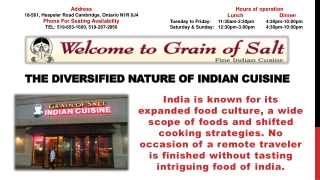 The Diversified Nature of Indian Cuisine
