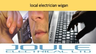 local electrician wigan
