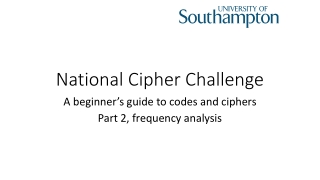 National Cipher Challenge