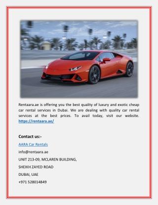 Luxury Car Hire Dubai_AARA Car Rentals