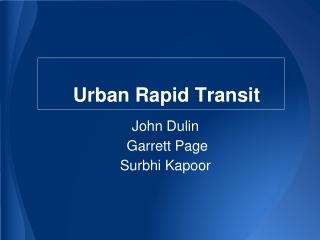 Urban Rapid Transit