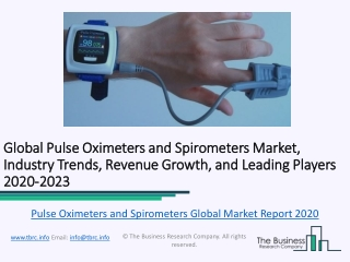 Global Pulse Oximeters and Spirometers Market, Industry Trends, Revenue Growth, Key Players Till 2023