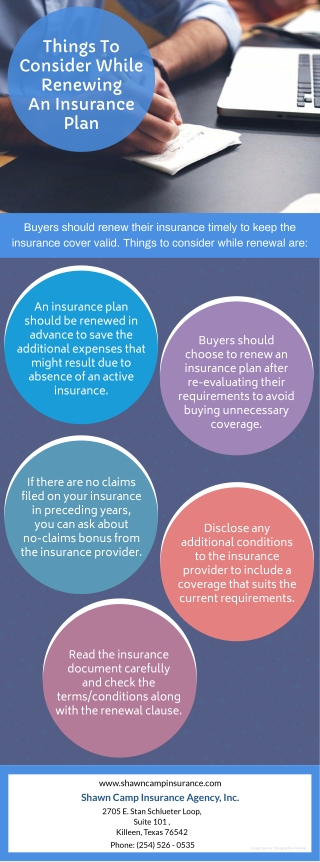 Things To Consider While Renewing An Insurance Plan
