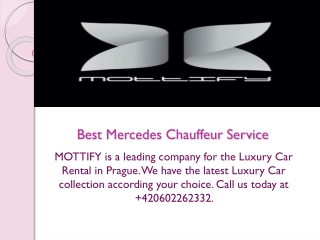 Best Mercedes Chauffeur Service