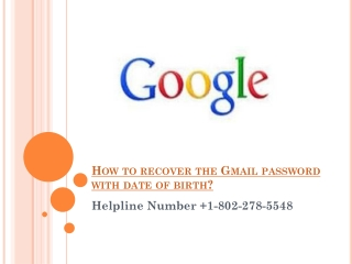 How to recover my gmail account with date of birth?