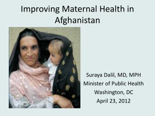 Improving Maternal Health in Afghanistan