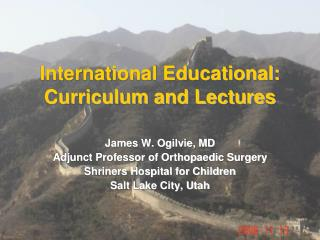 International Educational: Curriculum and Lectures