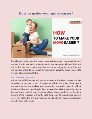 How to make your move easier?