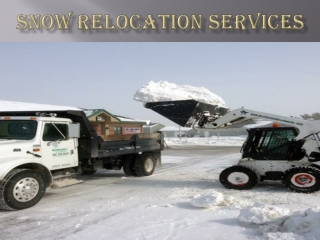 SNOW RELOCATION SERVICES