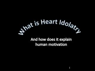 What is Heart Idolatry