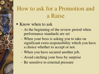 How to ask for a Promotion and a Raise