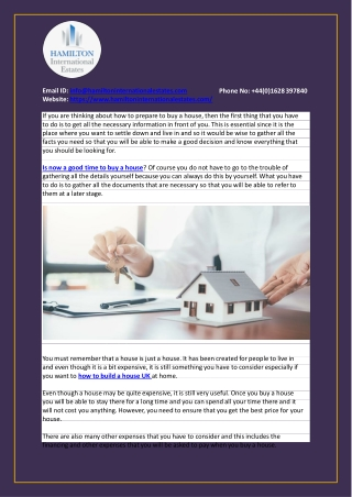 How to prepare to buy a house?