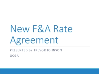 New F&A Rate Agreement