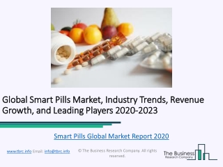 Global Smart Pills Market Report Trends, Growth and Revenue To 2023