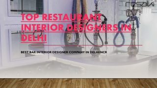 Top Restaurant Interior Designers in Delhi