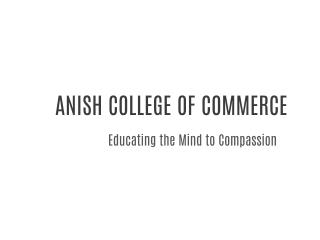 Best Commerce College in Hyderabad|Anish college
