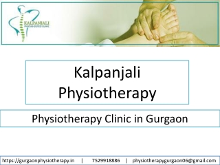 Physiotherapy in Gurgaon