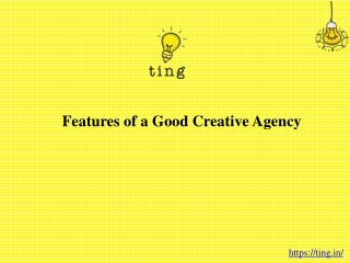 Features of a Good Creative Agency