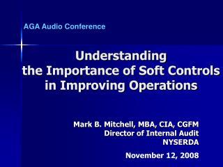 Mark B. Mitchell, MBA, CIA, CGFM Director of Internal Audit NYSERDA November 12, 2008
