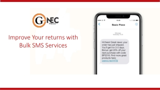 Improve Your returns with Bulk SMS Services