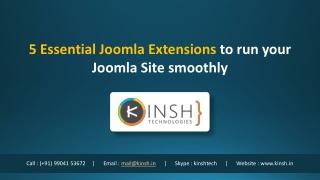 5 Essential Joomla Extensions to run your Joomla Site smoothly