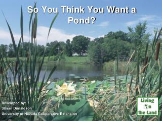So You Think You Want a Pond